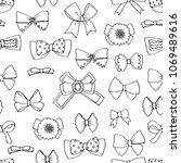seamless pattern with bows ...   Shutterstock . vector #1069489616