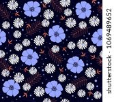 seamless fashion pattern with...   Shutterstock . vector #1069489652