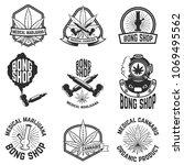 set of vintage emblems with... | Shutterstock .eps vector #1069495562