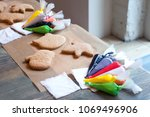 preparation for the culinary... | Shutterstock . vector #1069496906