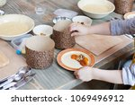 culinary class for children and ... | Shutterstock . vector #1069496912