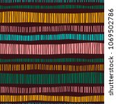 abstract tribal seamless... | Shutterstock .eps vector #1069502786