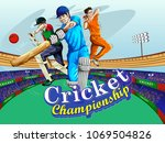 concept of sportsman playing... | Shutterstock .eps vector #1069504826