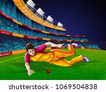 concept of sportsman playing... | Shutterstock .eps vector #1069504838