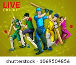concept of sportsman playing... | Shutterstock .eps vector #1069504856