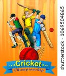concept of sportsman playing... | Shutterstock .eps vector #1069504865