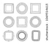 decorative set  template photo ... | Shutterstock .eps vector #1069514615