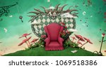 conceptual fantasy background ... | Shutterstock . vector #1069518386