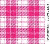 pink girlish tartan plaid... | Shutterstock .eps vector #1069521275
