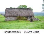 Culloden battle field English commandment house. The Battle of Culloden was the final confrontation of the 1745 Jacobite Rising.The conflict was the last pitched battle fought on British soil,
