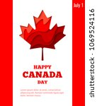 happy canada day vector holiday ... | Shutterstock .eps vector #1069524116