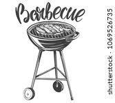 food meat  steak  roast grilled ... | Shutterstock .eps vector #1069526735