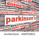 parkinson's disease message... | Shutterstock . vector #106952822