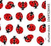 ladybug seamless pattern ...   Shutterstock .eps vector #1069528445