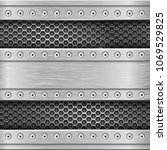 metal perforated texture with...