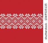 jacquard fairisle wool seamless ... | Shutterstock .eps vector #1069535135