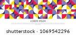 retro geometric covers design.  ... | Shutterstock .eps vector #1069542296