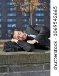 overworked businessman or... | Shutterstock . vector #1069542665