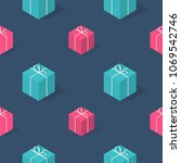 isometric seamless pattern with ... | Shutterstock .eps vector #1069542746