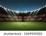 modern building of soccer... | Shutterstock . vector #1069545302