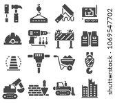web icons set   building ... | Shutterstock .eps vector #1069547702
