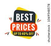 sale bunner template. vector... | Shutterstock .eps vector #1069548578