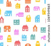 seamless pattern of colored... | Shutterstock .eps vector #1069549865