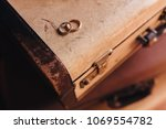 in the room on the floor  old... | Shutterstock . vector #1069554782
