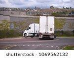 big rig american bonnet...   Shutterstock . vector #1069562132