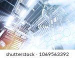 industry network concept image. ... | Shutterstock . vector #1069563392