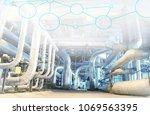 industry network concept image. ... | Shutterstock . vector #1069563395