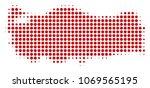 turkey map halftone vector... | Shutterstock .eps vector #1069565195