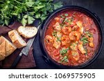 traditional creole cajun court... | Shutterstock . vector #1069575905