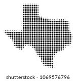 texas map halftone vector... | Shutterstock .eps vector #1069576796