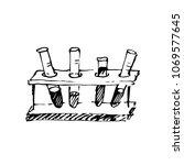 hand drawn test tubes. vector...   Shutterstock .eps vector #1069577645