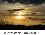cloudy colorful sunrise and...   Shutterstock . vector #1069588742
