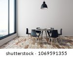 New Dining Room Interior With...