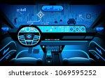 automobile cockpit  various... | Shutterstock .eps vector #1069595252