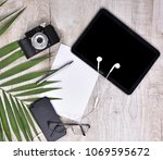 flat lay style. top view of... | Shutterstock . vector #1069595672