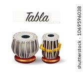 tabla traditional musical...   Shutterstock .eps vector #1069596038