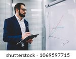 qualified business coach in... | Shutterstock . vector #1069597715