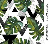simple natural  geometric... | Shutterstock . vector #1069598102