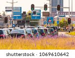 busy traffic during rush hour... | Shutterstock . vector #1069610642