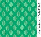 seamless green leaf pattern... | Shutterstock .eps vector #1069611968