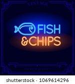 fish and chips restaurant bar... | Shutterstock .eps vector #1069614296