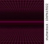 future retro line background of ... | Shutterstock .eps vector #1069615022