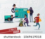 colored internet hacker... | Shutterstock .eps vector #1069619018