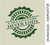 green a true love story never... | Shutterstock .eps vector #1069624718