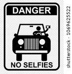 danger  no selfie | Shutterstock .eps vector #1069625522