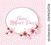 happy mother's day vector card. ... | Shutterstock .eps vector #1069626536